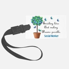 Social worker Butterfly Quote.PNG Luggage Tag