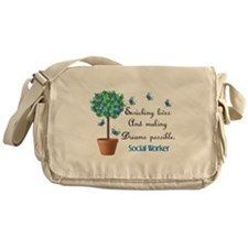 Social worker Butterfly Quote.PNG Messenger Bag