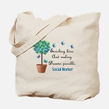 Social worker Butterfly Quote.PNG Tote Bag
