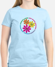 SOCIAL WORKER CIRCLE DAISIES.PNG T-Shirt