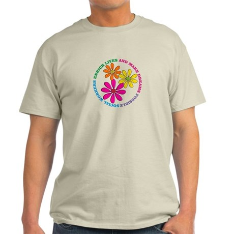 SOCIAL WORKER CIRCLE DAISIES.PNG Light T-Shirt
