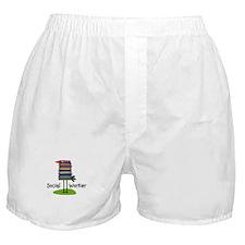 Social Worker Bird Books.PNG Boxer Shorts