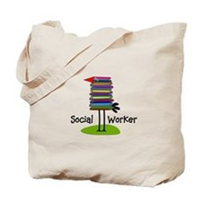 Social Worker Bird Books.PNG Tote Bag