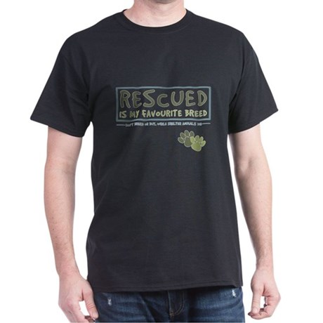 Rescued is my favourite breed - camouflage2 T-Shir