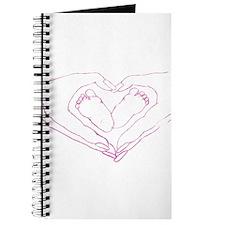 Baby feet love Journal