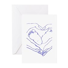 Baby Love Blue Greeting Cards (Pk of 20)