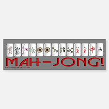 Mahjong GRY Bump Bumper Bumper Sticker