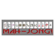 Mahjong GRY Bump Bumper Sticker