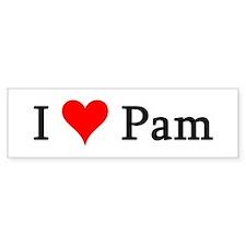 I Love Pam Bumper Bumper Sticker