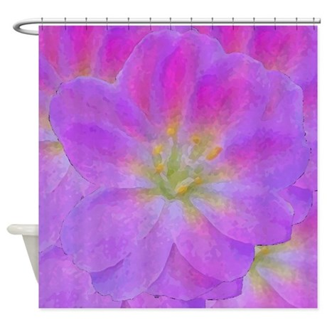 purple flower shower curtain by ab1634