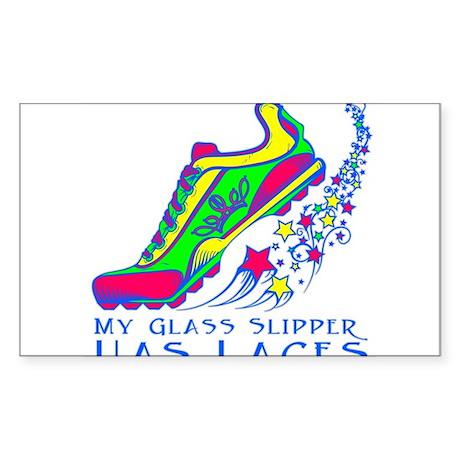 Running Shoe Sticker (Rectangle)