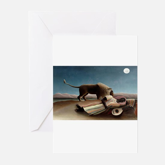 henri rousseau Greeting Cards (Pk of 10)