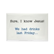 I know Jesus Gifts Rectangle Magnet (10 pack)