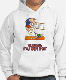 Real Men Play Volleyball Hoodie