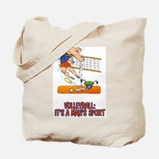 Real Men Play Volleyball Tote Bag