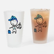Boy & Swimming Drinking Glass