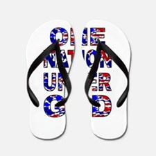 One Nation camo Flip Flops