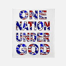 One Nation camo Throw Blanket
