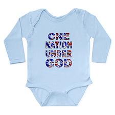 One Nation camo Long Sleeve Infant Bodysuit
