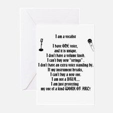 I am a vocalist Greeting Cards (Pk of 10)