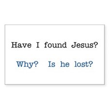 Found Jesus Gifts Rectangle Decal