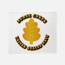 Navy - Nurse Corps Throw Blanket