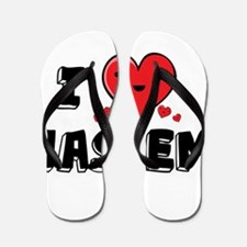 I Love Hashem Flip Flops