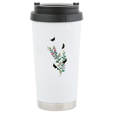 Butterflies of Summer Stainless Steel Travel Mug