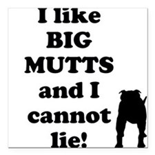 "Big Mutts Square Car Magnet 3"" x 3"""