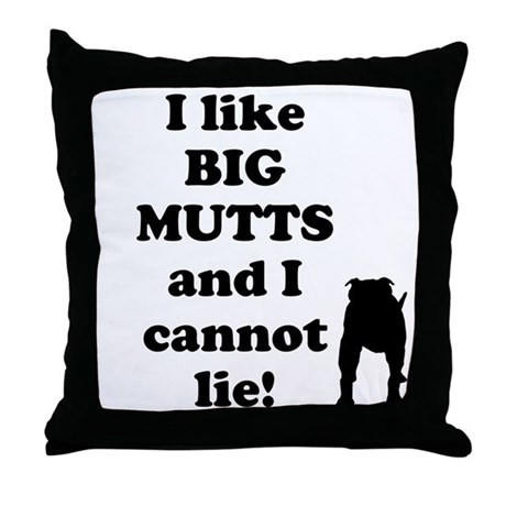 Big Mutts Throw Pillow by BigMutt5