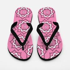 Lotus Breast Cancer Flip Flops