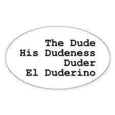 El Duderino Decal