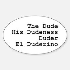 El Duderino Stickers