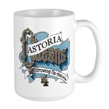 Growing Up Astoria Scroll Large Mugs