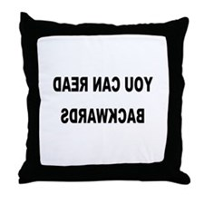 You can read backwards Throw Pillow