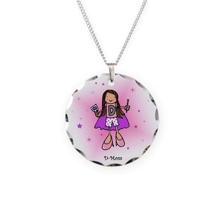 D-MOM Necklace Circle Charm