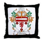 O'Bergin Coat of Arms Throw Pillow