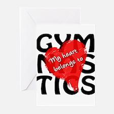 My Heart Belongs to Gymnastics Greeting Cards (Pk
