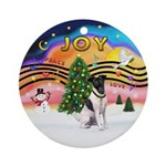 XMusic2-Fox Terrier (#1) Ornament (Round)