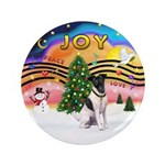"XMusic2-Fox Terrier (#1) 3.5"" Button"