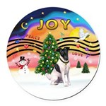 XMusic2-Fox Terrier (#1) Round Car Magnet