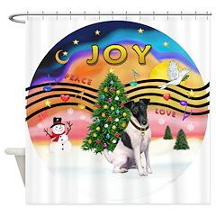 XMusic2-Fox Terrier (#1) Shower Curtain