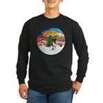 XMusic2-Fox Terrier (#1) Long Sleeve Dark T-Shirt