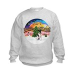 XMusic2-Fox Terrier (#1) Kids Sweatshirt