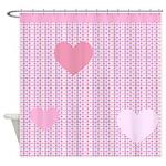 Cute Heart Pattern Shower Curtain
