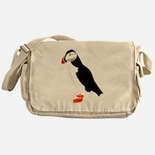 Pretty Puffin Messenger Bag