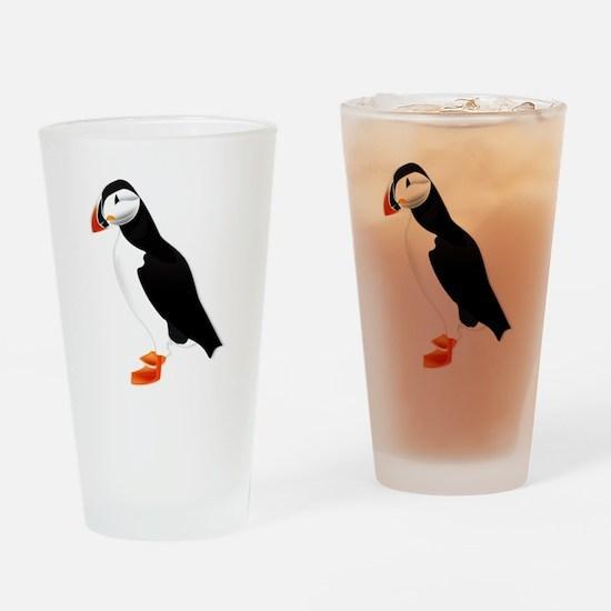 Pretty Puffin Drinking Glass