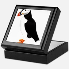 Pretty Puffin Keepsake Box