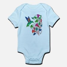 Rainbow Hummingbird on Trumpet Vine Onesie