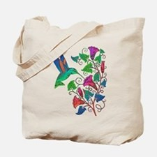 Rainbow Hummingbird on Trumpet Vine Tote Bag